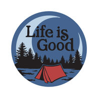 """Life is Good Camp Scenic 4"""" Circle Sticker"""