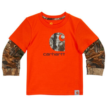 Carhartt Boys' Iconic Carhartt Camo Long-Sleeve T-Shirt