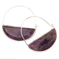 Scout Curated Wears Women's Stone Prism Hoop - Amethyst/Silver