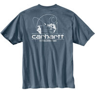 Carhartt Men's Big & Tall Workwear Logo Fish Graphic Pocket Short-Sleeve Shirt