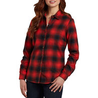 Dickies Women's Plaid Flannel Long-Sleeve Shirt