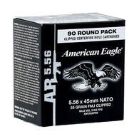 American Eagle 5.56x45mm 55 Grain FMJ Clipped Rifle Ammo (90)
