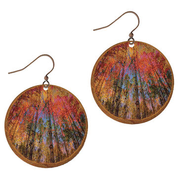 Illustrated Lights Womens DC Designs Round Earring