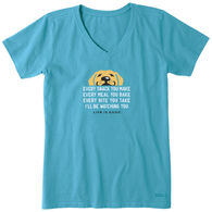 Life is Good Women's I'll Be Watching You Crusher Vee Short-Sleeve T-Shirt