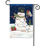 BreezeArt Snowman Lights Garden Flag