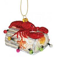 Cape Shore Lobster/Trap Glass Ornament
