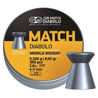 JSB Match Diabolo Yellow Match Midweight 177 Cal. 8.02 Grain Air Gun Pellet (500)