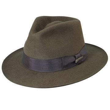 Dorfman Pacific Mens Indiana Jones Genuine Fur Felt Fedora