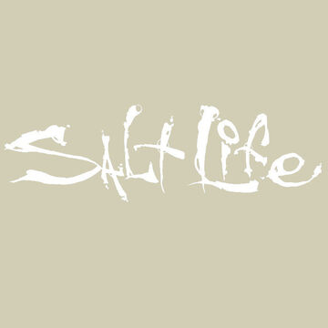 Salt Life Signature Small Decal - White