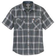 Carhartt Men's Rugged Flex Relaxed Fit Lightweight Button-Down Short-Sleeve Shirt