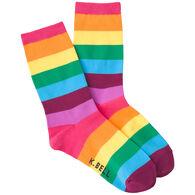 K. Bell Women's Rainbow Stripes Crew Sock