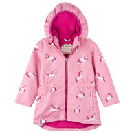 Hatley Girls' Majestic Unicorns Microfiber Rain Jacket