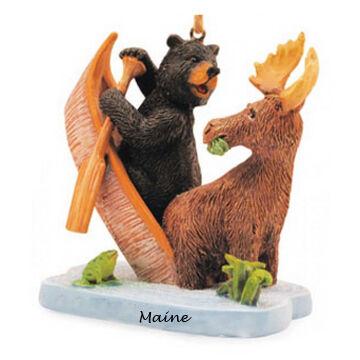 Cape Shore Moose Tipping Canoe Ornament