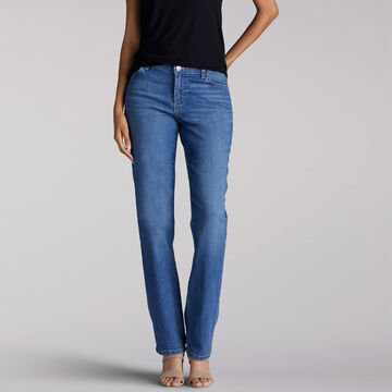 Lee Womens Relaxed Fit Straight Leg Stretch Jean