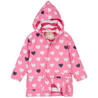 Hatley Girl's Color Changing Lovely Heart Raincoat