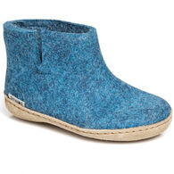 Glerups Boys' & Girls' Slip On Wool Felt Boot Slipper