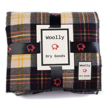 Woolly Vintage Black & Cream Reversible Blanket