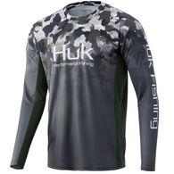 Huk Men's Icon X Refraction Fade Performance Fishing Long-Sleeve Shirt