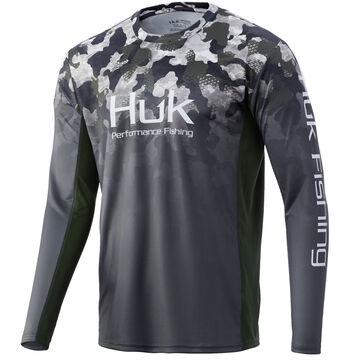 Huk Mens Icon X Refraction Fade Performance Fishing Long-Sleeve Shirt