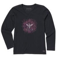 Life is Good Women's Bee Positive Crusher Vee Long-Sleeve T-Shirt