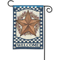 BreezeArt Blue Barn Star Garden Flag