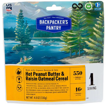 Backpackers Pantry Peanut Butter & Raisin Oatmeal - 1 Serving