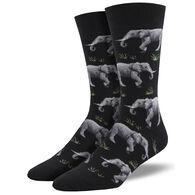 Socksmith Design Men's Raising A Herd Crew Sock