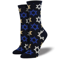 Socksmith Design Women's Star of David Crew Sock