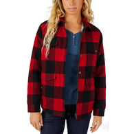 Dickies Women's Sherpa-Lined Flannel Chore Coat
