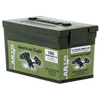 American Eagle 5.56x45mm 55 Grain FMJ BT Rifle Ammo in Mini Can (120)