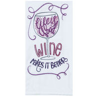 Kay Dee Designs Life is Good Embroidered Flour Sack Towel