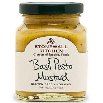 Stonewall Kitchen Basil Pesto Mustard, 8 oz