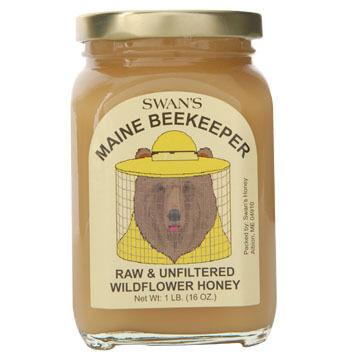 Swans Maine Beekeeper Raw & Unfiltered Wildflower Honey - 1 lb.
