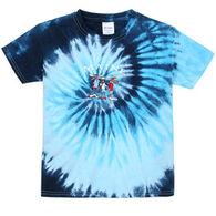 ESY Boys' & Girls' Tie Dye Moose Short-Sleeve T-Shirt