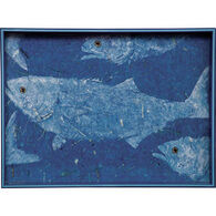 Rockflowerpaper Blue Fish Tray