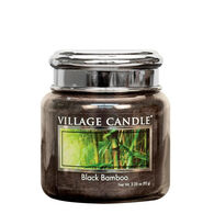 Village Candle Petite Glass Jar Candle - Black Bamboo