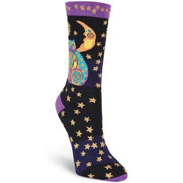 K. Bell Womens Celestial Cats Sock