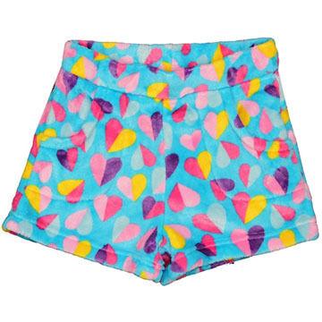 Candy Pink Girls' Hearts Fleece Pajama Short