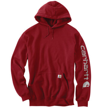 Carhartt Mens Midweight Hooded Logo-Sleeve Sweatshirt