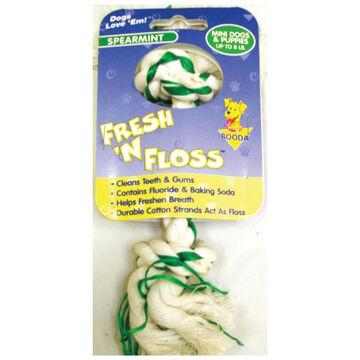 Booda Fresh n Floss 2-Knot Rope Bone Mini Dog & Puppy Toy