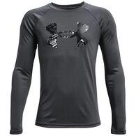 Under Armour Youth Tech Logo Fill Long-Sleeve Shirt