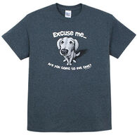 Earth Sun Moon Trading Men's Excuse Me Dog Short-Sleeve T-Shirt