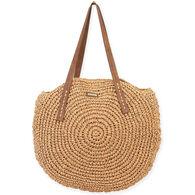 Sun N Sand Women's Sashia Straw Shoulder Tote Bag