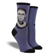 Socksmith Design Women's Ruth Bader Ginsberg Portrait Crew Sock