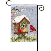 BreezeArt Christmas Birdhouse Garden Flag