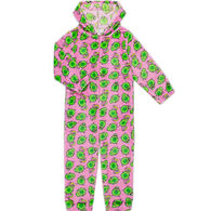 Candy Pink Girl's Avocado Pajama Onesie