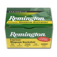 "Remington Express Magnum 12 GA 3"" #000 Buck 10 Pellet Buckshot Ammo (5)"