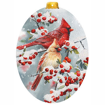 LPG Greetings Cardinal Ornament Boxed Christmas Cards