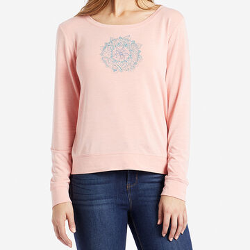 Life is Good Women's Dream Mandala Supreme Scoop Pullover Long-Sleeve Top