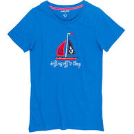 Hatley Women's Pretty Sailboats Pajama Short-Sleeve Shirt